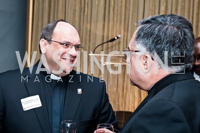 Rev. Frank Donio, Fr. Thomas Rosica. Photo by Tony Powell. CUA 50th Anniversary Gala Concert. Kennedy Center. April 12, 2015