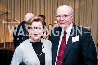 CUA Dean Emeritus Elaine Walters, Former CUA Provost John Convey. Photo by Tony Powell. CUA 50th Anniversary Gala Concert. Kennedy Center. April 12, 2015