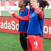 Reacting to the replay of Sophie Schmidt's goal