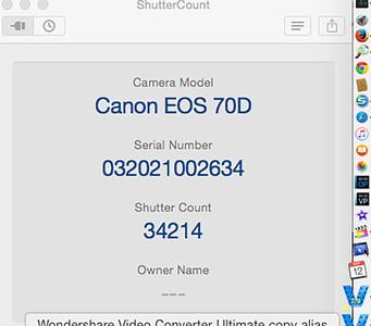 Shutter count 70D