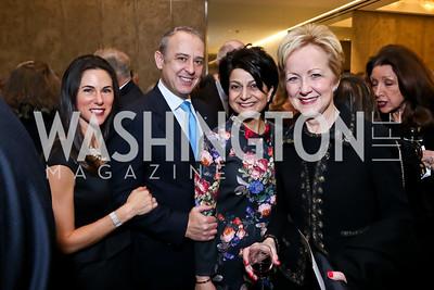 Veronica Valencia, Arturo Sarukhan, Shamim Jawad, Ann Stock. Photo by Tony Powell. Ina Ginsburg Celebration. Kennedy Center. February 9, 2015