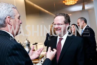 Jim Rosebush, AFI President and CEO Bob Gazzale. Photo by Tony Powell. Ina Ginsburg Celebration. Kennedy Center. February 9, 2015