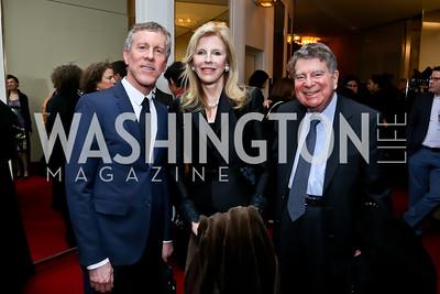 Mark Ginsburg, Jane and Calvin Cafritz. Photo by Tony Powell. Ina Ginsburg Celebration. Kennedy Center. February 9, 2015