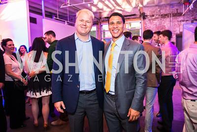Lindsay Reishman, Robert Reffkin. Photo by Alfredo Flores. Compass DC launch. Long View Gallery. June 23, 2015
