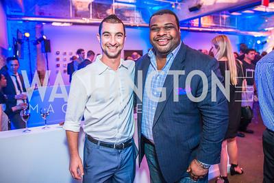 Daniel Kramer, Nick Hunter. Photo by Alfredo Flores. Compass DC launch. Long View Gallery. June 23, 2015