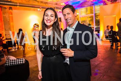 Leah Benoit, Rich Wiedis. Photo by Alfredo Flores. Compass DC launch. Long View Gallery. June 23, 2015