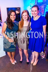 Shilpi Roongta, Liz Pezza, Grace jones. Photo by Alfredo Flores. Compass DC launch. Long View Gallery. June 23, 2015