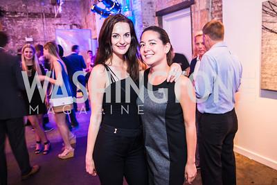 Julia Romashko, Stephanie Sienkowski. Photo by Alfredo Flores. Compass DC launch. Long View Gallery. June 23, 2015