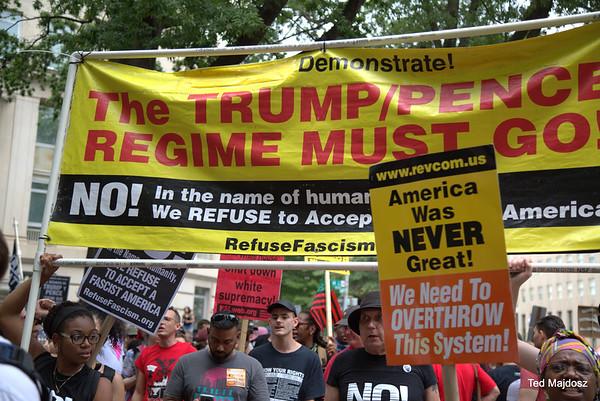 Counter White Supremacist  protest White House