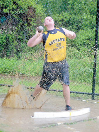 Corey J. Corbin/NEWS<br /> Shenango's Dom Westbay won the shot put yesterday at the WPIAL Class AA individual championships.