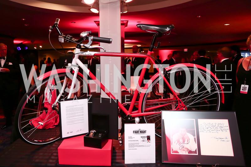 Muhammad Ali Autographed Shinola Custom Bike. Photo by Tony Powell. 2015 Fight Night. Hilton Hotel. November 5, 2015