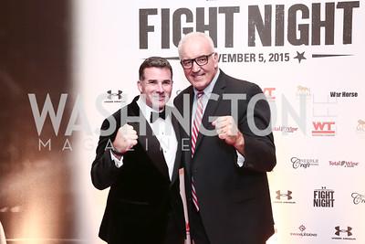 Kevin Plank, Gerry Cooney. Photo by Tony Powell. 2015 Fight Night. Hilton Hotel. November 5, 2015