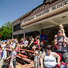 Spectators pack the old theater block to watches performances in front of Old City Hall during the 4th of July parade on Monday morning. SENTINEL & ENTERPRISE / Ashley Green