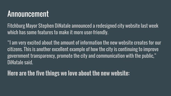 5 things you'll love about the city of Fitchburg's website redesign
