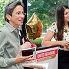 The Fitchburg Art Museum receives the Spirit of Cleghorn award from Executive Director Joana Dos Santos during the United Neighbors of Fitchburg's 9th annual Thank You Event on Wednesday evening. SENTINEL & ENTERPRISE / Ashley Green