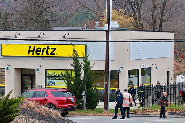 Bomb scare Hertz rental car
