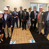 State and city officials along with guests gather during the official kickoff to the capital improvement rennovation project at the YMCA in Fitchburg on Wednesday morning. SENTINEL & ENTERPRISE / Ashley Green