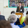 Jack Foley speaks during the official kickoff to the capital improvement rennovation project at the YMCA in Fitchburg on Wednesday morning. SENTINEL & ENTERPRISE / Ashley Green