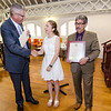 State Representative Stephan Hay and Mayor Stephen DiNatale present Elizabeth Moison with an Outstanding Young American award during the annual Civic Days luncheon at the Senior Center on Friday morning. SENTINEL & ENTERPRISE / Ashley Green
