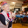 Josephine Cormier snaps a photo of King and Queen Fred and Dorith Washington on her flip phone during the annual Civic Days luncheon at the Senior Center on Friday morning. SENTINEL & ENTERPRISE / Ashley Green