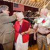 Mayor Stephen DiNatale crowns Dorith and Fred Washington after they are named king and queen during the annual Civic Days luncheon at the Senior Center on Friday morning. SENTINEL & ENTERPRISE / Ashley Green