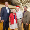 State Representative Stephan Hay and Mayor Stephen DiNatale join King and Queen Fred and Dorith Washington for a photo during the annual Civic Days luncheon at the Senior Center on Friday morning. SENTINEL & ENTERPRISE / Ashley Green
