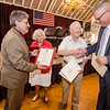 Mayor Stephen DiNatale and State Representative Stephan Hay present Dorith and Fred Washington with citations after they are named king and queen during the annual Civic Days luncheon at the Senior Center on Friday morning. SENTINEL & ENTERPRISE / Ashley Green