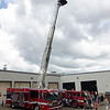Ladder trucks from the Fitchburg Fire Department were available for kids to climb around during Fitchburg's annual DPW Day held on Wednesday. SENTINEL & ENTERPRISE / Ashley Green
