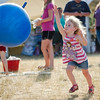 Riley Donnelly, 3, chases down a ball at Riverfront Park in Fitchburg on Sunday afternoon. SENTINEL & ENTERPRISE / Ashley Green
