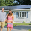 John and Johanna Bozicas have placed solar panels on their home in Fitchburg at no cost through an agreement with Vivint Solar. SENTINEL & ENTERPRISE/JOHN LOVE