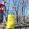 Fitchburg resident Doug Haynes picks up trash on Summer Street during the Ward 6 cleanup on Saturday morning. SENTINEL & ENTERPRISE / Ashley Green