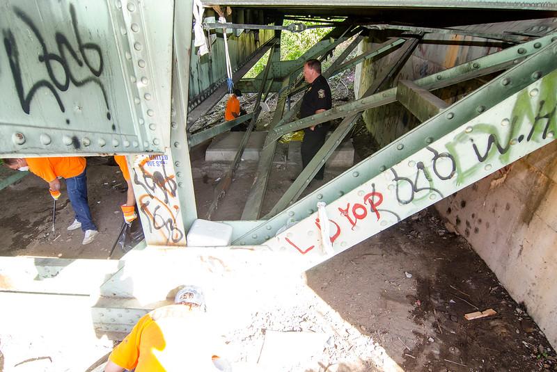Rollstone Bridge Homeless Camp Cleanup Mng Sen