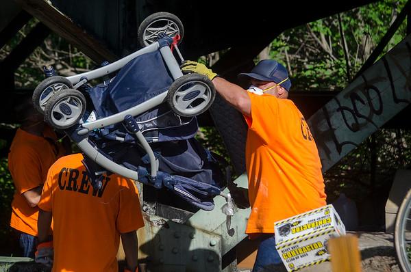 Rollstone bridge homeless camp cleanup