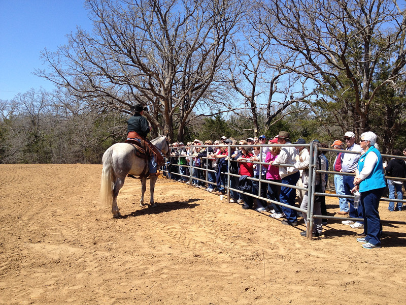Denton Horse Country Tour - Road Runners get ready for a mounted shooting demonstration