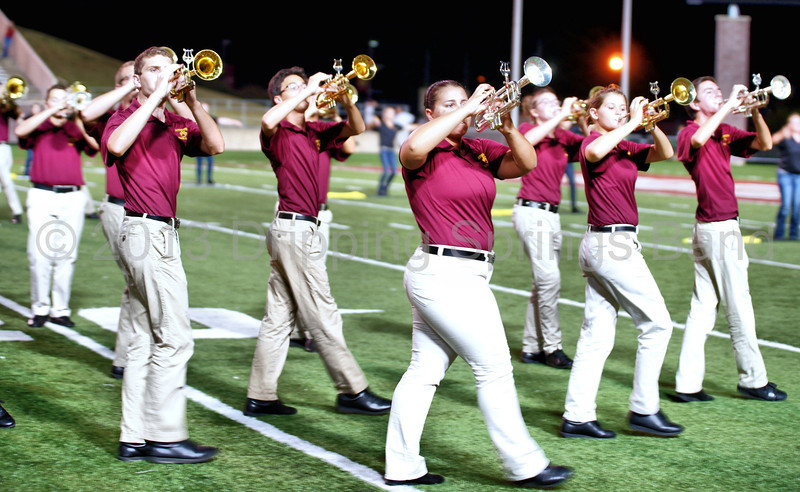 """The Dripping Springs High School Band debuts its 2013-2014 marching band at their first football game of the season in San Marcos, Texas. Photographs shot at Bobcat Stadium on 8.30.2013. Photography by Frank Newland Alamopics LLC.  <a href=""""http://www.alamopics.com"""">http://www.alamopics.com</a> ©"""