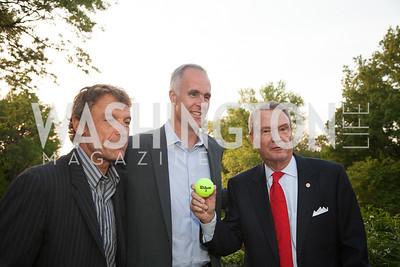 Mats Wilander, Todd Martin, John Breaux