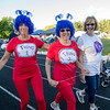 Sherry Piermarini, Donyce Fleck and Karen Brousseau, from Worker's Credit Union, during the Greater Gardner Relay for Life on Friday evening. SENTINEL & ENTERPRISE / Ashley Green