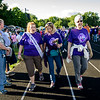 Lauren Edgerly, of Leominster, and Carla Roy and Anna Pelavin, both of Gardner, walk the  survivor's lap at the Greater Gardner Relay for Life. SENTINEL & ENTERPRISE / Ashley Green