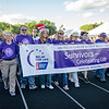 Survivors kickoff the Greater Gardner Relay for Life with a lap around the track on Friday evening. SENTINEL & ENTERPRISE / Ashley Green