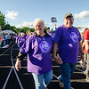 Sharon and Ray Lashua, of Gardner, walk the survivor's lap kicks to start the Greater Gardner Relay for Life. SENTINEL & ENTERPRISE / Ashley Green