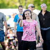 Paige Lafferty, 12, of Barre, walks the track during the Greater Gardner Relay for Life. SENTINEL & ENTERPRISE / Ashley Green