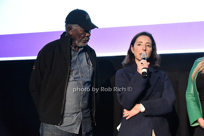 Morgan Freeman, Pascaline Servan-Schreiber  photo  by Rob Rich/SocietyAllure.com © 2015 robwayne1@aol.com 516-676-3939
