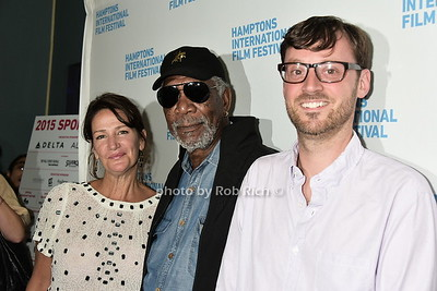 Meghan O'Hara, Morgan Freeman, David Nugent photo  by Rob Rich/SocietyAllure.com © 2015 robwayne1@aol.com 516-676-3939
