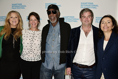 Lori McCreary,Meghan O'Hara, Morgan Freeman, Nick McKinney, Pascaline Servan-Schreiber  photo  by Rob Rich/SocietyAllure.com © 2015 robwayne1@aol.com 516-676-3939