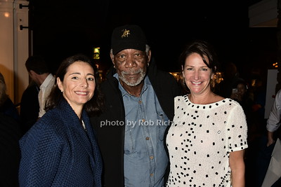 Pascaline Servan-Schreiber, Morgan Freeman, Meghan O'Hara photo  by Rob Rich/SocietyAllure.com © 2015 robwayne1@aol.com 516-676-3939