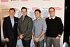 Chef Bobby Flay, actor Josh Charles, Michael Weber and author Marshall Fine