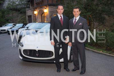 Christian Lungarotti, Antonio Alves, Harvard Business School, Maserati and Ermenegildo Zegna Host Private Dinner at the residence of the Italian Ambassador.  October 29, 2015, photo by Ben Droz.