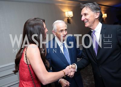 Jillian Katcher, Bill Marriott, Doug Holladay. Photo by Tony Powell. Harvard Business School Inaugural Gala. Ritz Carlton. June 11, 2015