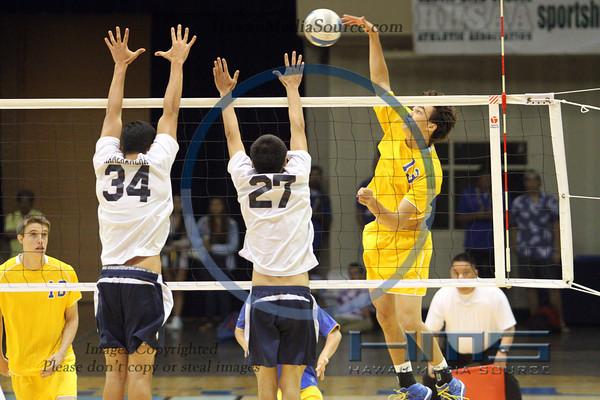 Kamehameha Hawaii Boys Volleyball - Pun 5-10-14