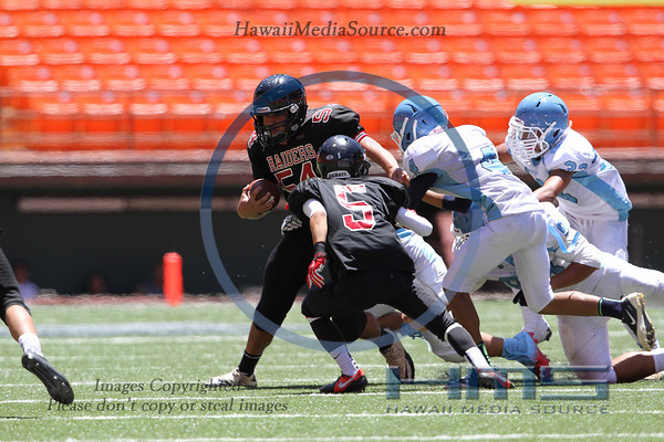 Iolani Intermediate Football - SF 8-31-13